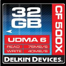 Delkin Devices 32GB CF 500X UDMA Memory Card