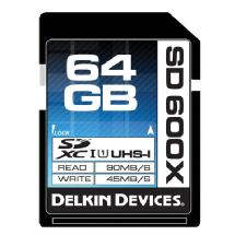 Delkin Devices 64GB SD 600X UHS-I Memory Card