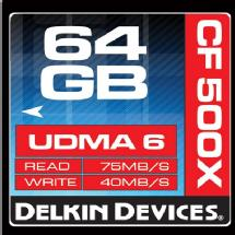 Delkin Devices 64GB CF 500X UDMA Memory Card
