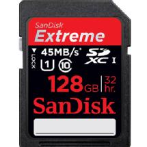 SanDisk 128GB SDXC Memory Card Extreme Class 10 UHS-I