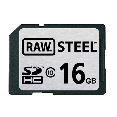 16GB SDHC Memory Card RAW STEEL Class 10 UHS-1 Image 0