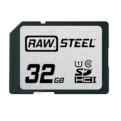 32GB SDHC Memory Card RAW STEEL Class 10 UHS-1 Image 0