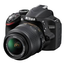 Nikon D3200 Digital SLR Camera with 18-55mm VR Lens (Black)