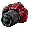 Nikon | D3200 Digital SLR Camera with 18-55mm VR Lens (Red) | 25496