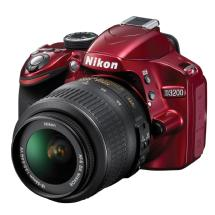 Nikon D3200 Digital SLR Camera with 18-55mm VR Lens (Red)