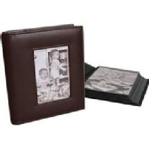 Milano Series Classic 168 4 x 6 Photo Album - Dark Brown (2 Pack)