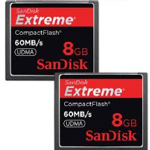 SanDisk CompactFlash Memory Card Extreme 400x UDMA - 2-Pack