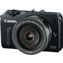 Canon EOS-M Mirrorless Digital Camera with EF-M 22mm f/2 STM Lens (Black)