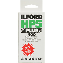 Ilford HP5 Plus 135-36 Black & White Print Film (2 Pack Plus One Free)