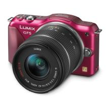 Panasonic Lumix DMC-GF5 Digital Micro Four Thirds Camera with 14-42mm Lens (Red)
