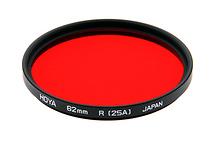 Hoya 62mm Red #25A Glass Filter for Black & White Film (Open Box)
