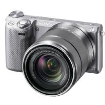 Sony Alpha NEX-5R Digital Camera with 18-55mm f/3.5-5.6 E-mount Zoom Lens (Silver)