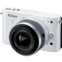 Nikon 1 J2 Mirrorless Digital Camera with 10-30mm VR Zoom Lens - White