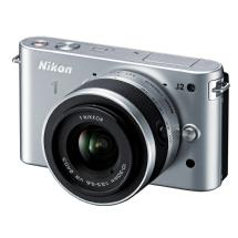Nikon 1 J2 Mirrorless Digital Camera with 10-30mm VR Zoom Lens - Silver