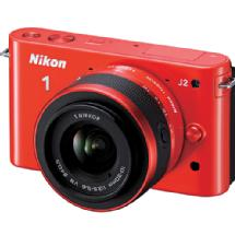 Nikon 1 J2 Mirrorless Digital Camera with 10-30mm VR Zoom Lens - Orange
