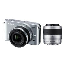 Nikon 1 J2 Mirrorless Digital Camera with 10-30mm & 30-110mm Lens - Silver