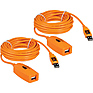 2 x 16' (4.88 m) TetherPro USB 2.0 Active Extension Cables