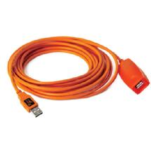 Tether Tools 16 Ft TetherPro USB 3.0 Active Extension Cable (Hi-Visibility Orange)