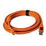 15 Ft (4.6 m) TetherPro USB 2.0 A Male to Mini-B 5-Pin Gold Plated Cable