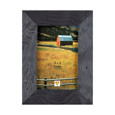 Wood Veneer Slate Blue Frame - 4x6 In. Image 0