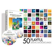 Westcott Illusions 50 Playful Digital Backgrounds CD