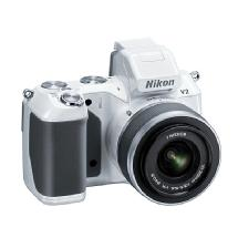 Nikon 1 V2 Mirrorless Digital Camera with 1 NIKKOR VR 10-30mm Lens (White)