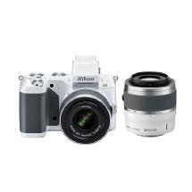 Nikon 1 V2 Mirrorless Digital Camera with 1 NIKKOR VR 10-30mm and 30-110mm Lenses (White)
