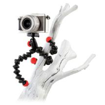 Joby GorillaPod Hybrid Flexible Mini-Tripod with Ball Head (Black/Red)