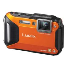 Panasonic Lumix DMC-TS5 Digital Camera (Orange)