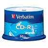 Verbatim | CD-R 700MB 52x Write Once Recordable Compact Disc with (Spindle Pack of 50) | 94691