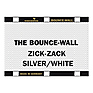 Bounce-Wall (Zig-Zag Silver/White)