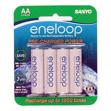 Eneloop AA Rechargeable Ni-MH Batteries (2000mAh, Blister Pack of 4) Image 0