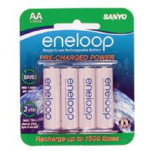 Sanyo Eneloop AA Rechargeable Ni-MH Batteries (2000mAh, Blister Pack of 4)