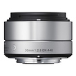30mm f/2.8 DN Lens for Micro 4/3 (Silver)