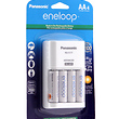 Eneloop AA NiMH 4-Pack with AC Charger (2000 mAh, 100-240V)
