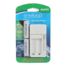 Sanyo Eneloop AA NiMH 2-Pack with USB Charger