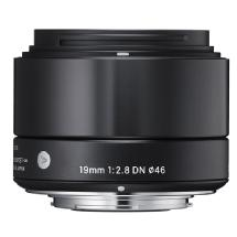 Sigma 19mm f/2.8 DN Lens for Micro 4/3 (Black)