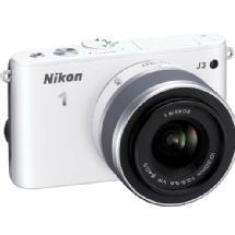Nikon 1 J3 Mirrorless Digital Camera with 10-30mm VR Lens (White)