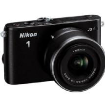 Nikon 1 J3 Mirrorless Digital Camera with 10-30mm VR Lens (Black)