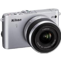 Nikon 1 J3 Mirrorless Digital Camera with 10-30mm VR Lens (Silver)
