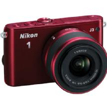 Nikon 1 J3 Mirrorless Digital Camera with 10-30mm VR Lens (Red)
