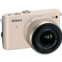 Nikon 1 J3 Mirrorless Digital Camera with 10-30mm VR Lens (Beige)