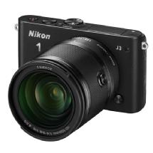 Nikon 1 J3 Mirrorless Digital Camera with 10-100mm Lens (Black)