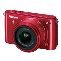 Nikon 1 S1 Mirrorless Digital Camera with 11-27.5mm Lens (Red)