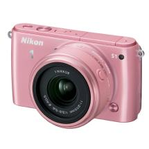Nikon 1 S1 Mirrorless Digital Camera with 11-27.5mm Lens (Pink)