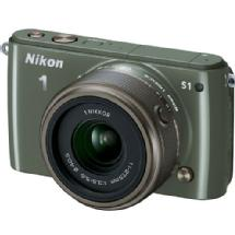 Nikon 1 S1 Mirrorless Digital Camera with 11-27.5mm Lens (Khaki)
