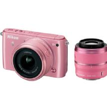 Nikon 1 S1 Mirrorless Digital Camera with 11-27.5mm and 30-110mm Lenses (Pink)
