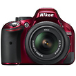 D5200 Digital SLR Camera with 18-55mm Lens (Red)