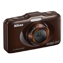 Nikon COOLPIX S31 Digital Camera (Brown)