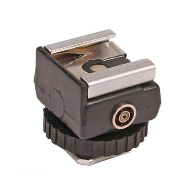 Hot Shoe to PC with 1/4-20 Female Thread Adapter Image 0